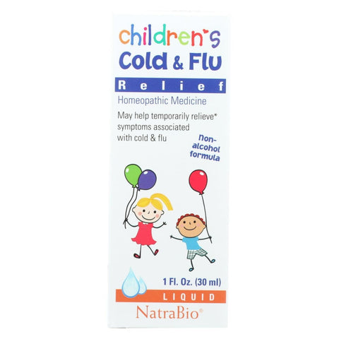 Image of Natrabio Childrens Cold And Flu Relief - 1 Fl Oz - Eco-Friendly Home & Grocery