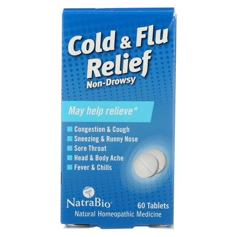 Image of Natrabio Cold And Flu Relief Non-drowsy - 60 Tablets - Eco-Friendly Home & Grocery
