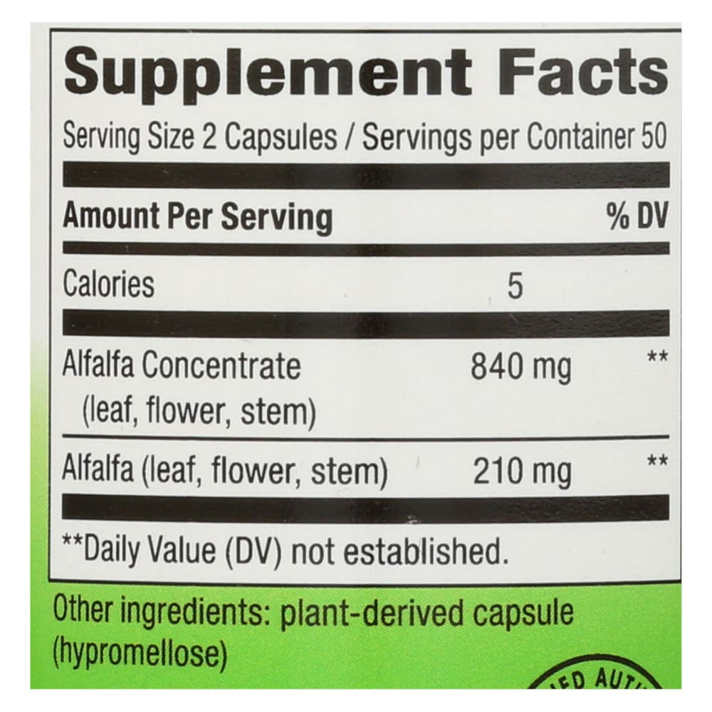 Natures Way Alfa-max 10x Concentrate - 100 Capsules - Eco-Friendly Home & Grocery