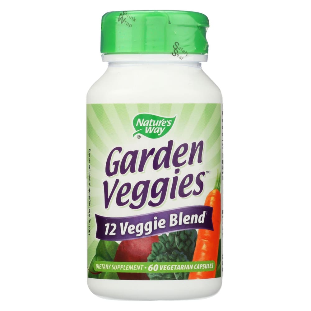 Natures Way Garden Veggies - 60 Vegetarian Capsules - Eco-Friendly Home & Grocery