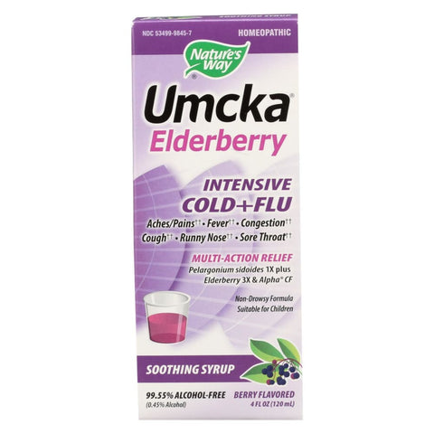 Image of Natures Way Umcka Cold - Flu - Intensive - 4 Oz - Eco-Friendly Home & Grocery