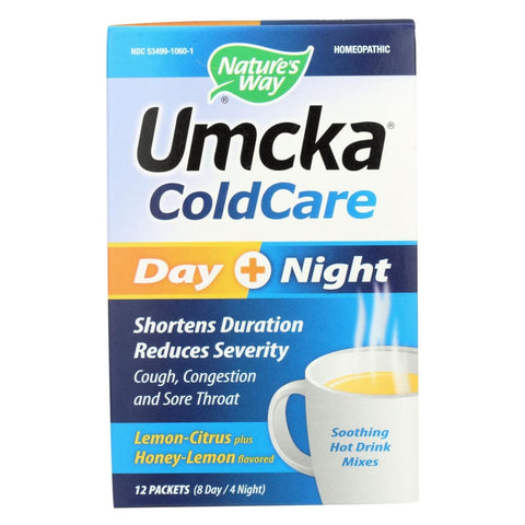 Natures Way Umcka Coldcare Drink - Day And Night - 12 Count - Eco-Friendly Home & Grocery