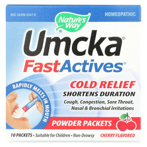 Natures Way Umcka Fast Act Cold - Cherry - 10 Count - Eco-Friendly Home & Grocery