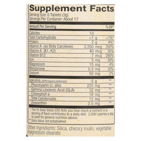 Image of Nutrex Hawaii Pure Hawaiian Spirulina Pacifica - 500 Mg - 100 Tablets - Eco-Friendly Home & Grocery