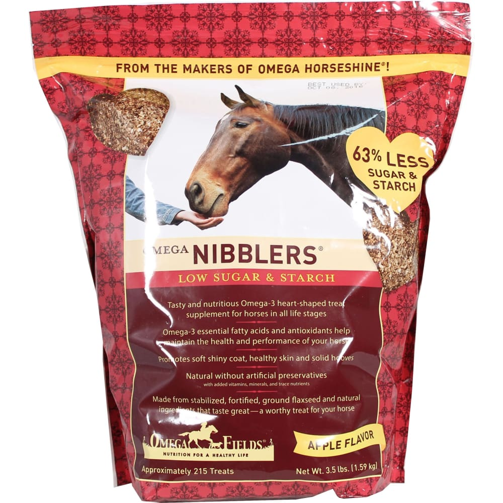 Omega Fields D - Omega Nibblers Low Sugar And Starch - APPLE / 3.5 POUND - Pet