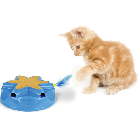 Ourpets Company - Catty Whack Electronic Sound & Action Toy - BLUE - Pet