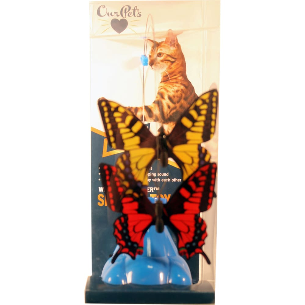 Ourpets Company - Whirling Wiggler Spinner Cat Toy - ASSORTED - Pet