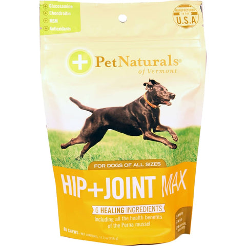 Pet Naturals Of Vermont - Hip + Joint Max Chew For Dogs - DUCK / 60 CT - Pet