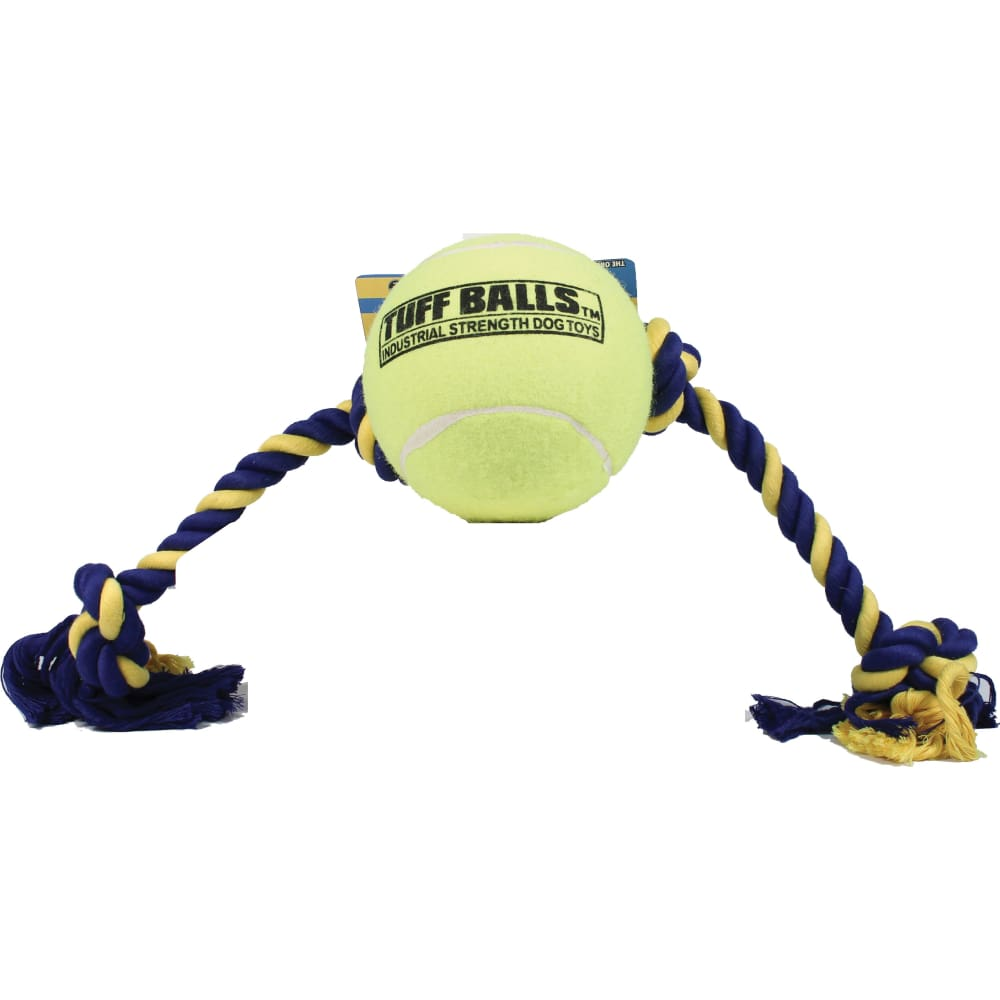 Petsport - Mega Tuff Ball Tug Dog Toy - YELLOW / 6 IN - Pet