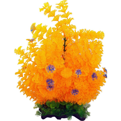 Poppy Pet - Extra Wide Bushy Ambulia Aquarium Plant - ORANGE / 16 INCH - Pet