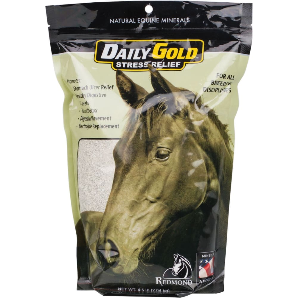 Redmond Minerals Inc. - Daily Gold Stress Relief Supplement For Horses - 4.5 POUND - Pet