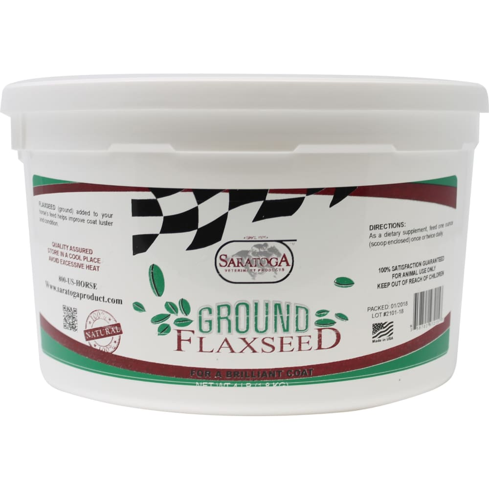 Saratoga Vet Products - Ground Flax Seed - 4LB - Pet