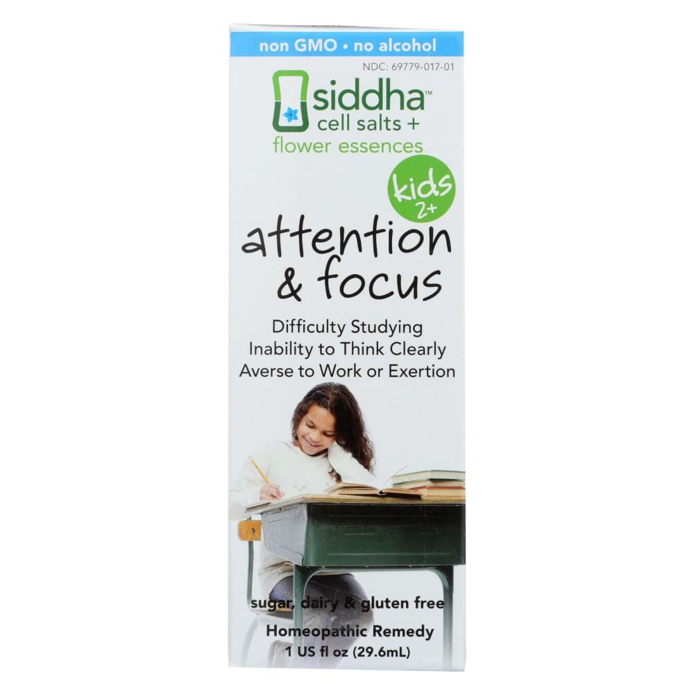 Siddha Flower Essences Attention And Focus - Kids - Age Two Plus - 1 Fl Oz - Eco-Friendly Home & Grocery