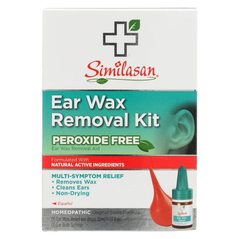 Similasan Ear Wax Relief Ear Drops And Ear Wax Removal Kit - 1 Kit - Eco-Friendly Home & Grocery