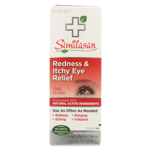 Similasan Redness And Itchy Eye Relief - .33 Oz - Eco-Friendly Home & Grocery