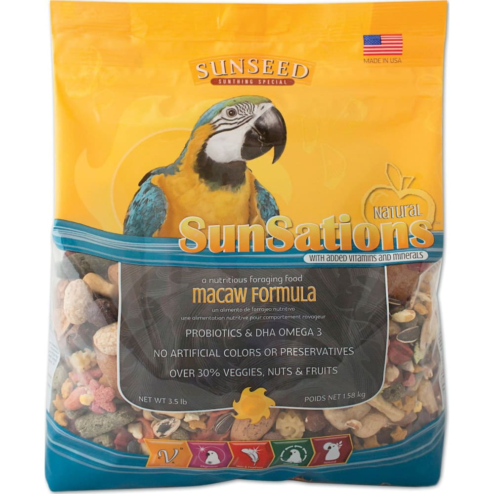 Sunseed Company - Sunsations Foraging Food For Macaw - 3.5 POUND - Pet