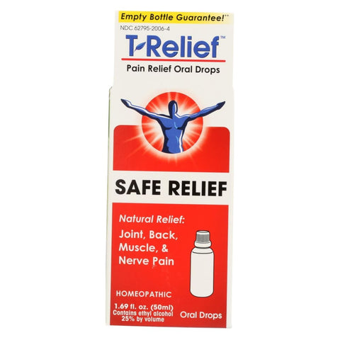 Image of T-relief Pain Relief Oral Drops - Arnica Plus 12 Natural Ingredients - 1.69 Oz - Eco-Friendly Home & Grocery