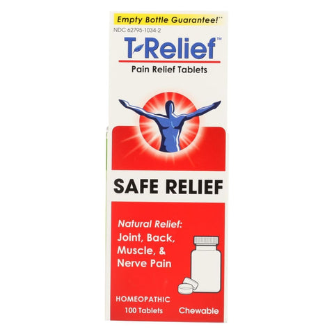 T-relief Pain Relief Tablets - Arnica Plus 12 Natural Ingredients - 100 Tablets - Eco-Friendly Home & Grocery
