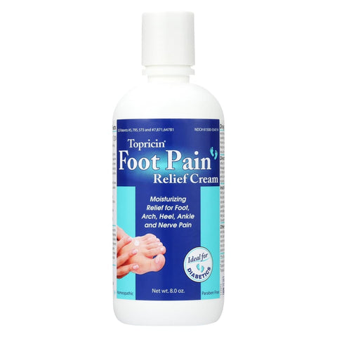 Topricin Foot Therapy Cream - 8 Oz - Eco-Friendly Home & Grocery