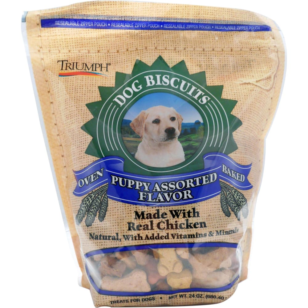 Triumph Pet Industries - All Natural Puppy Biscuits - ASSORTED / 24 OZ - Pet