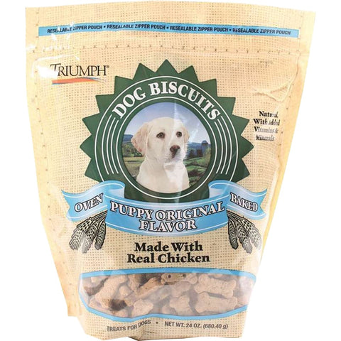 Image of Triumph Pet Industries - All Natural Puppy Biscuits - ORIGINAL / 24 OZ - Pet