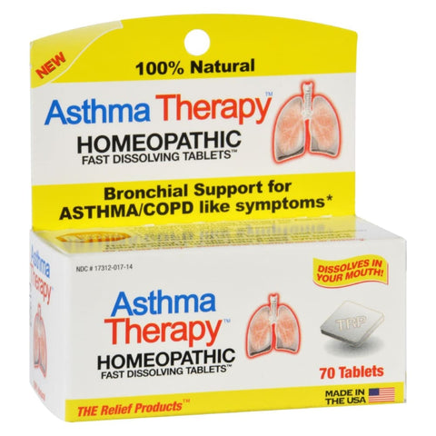 Trp Asthma Therapy - 70 Tablets - Eco-Friendly Home & Grocery