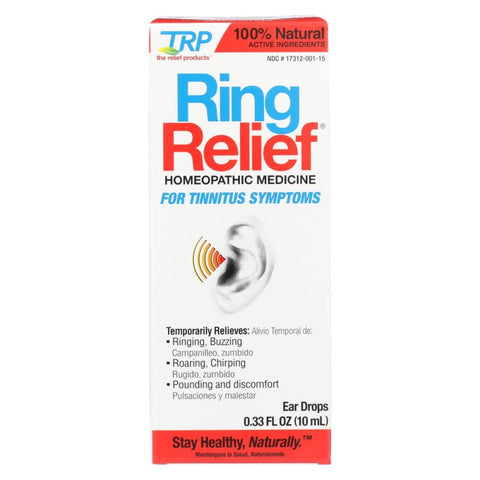 Trp Ear Drops - Ring Relief - .33 Oz - Eco-Friendly Home & Grocery