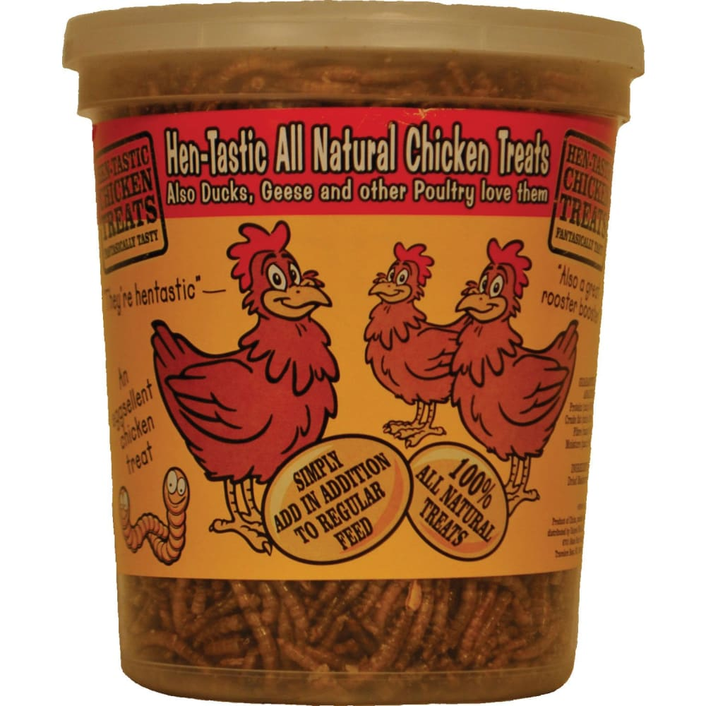 Unipet Usa - Hentastic Mealworm To Go Chicken Treats - 6 OUNCE - Pet