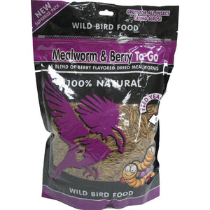 Unipet Usa - Mealworm And Berry To Go Wild Bird Food - 1.1 POUND - Pet