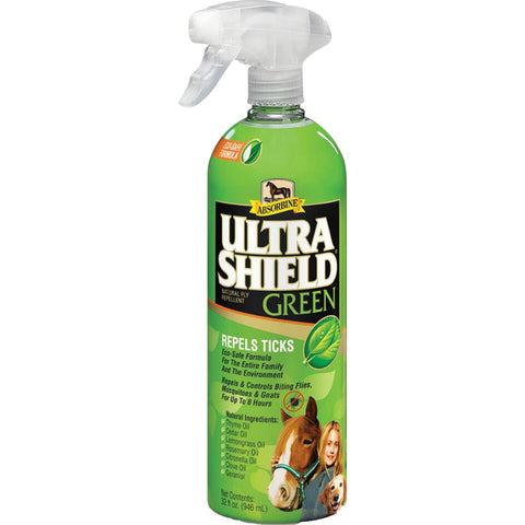 W F Younginc-insecticide - Absorbine Ultrashield Green Natural Fly Repellent - 32 OUNCE - Pet