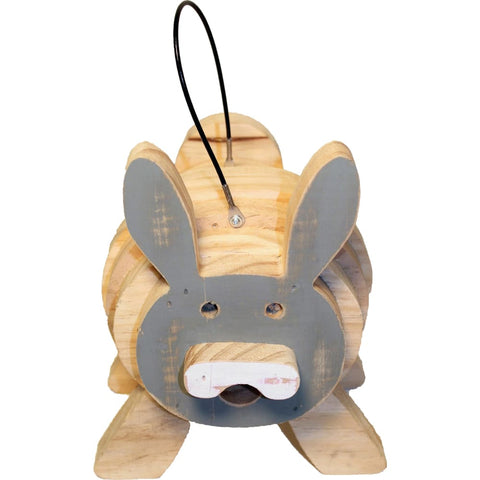 Welliver Outdoors - Welliver Stacks Bunny Bird House - GRAY & NATURAL - Pet