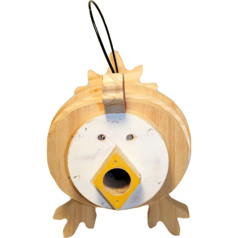 Welliver Outdoors - Welliver Stacks Chicken Bird House - WHITE & NATURAL - Pet