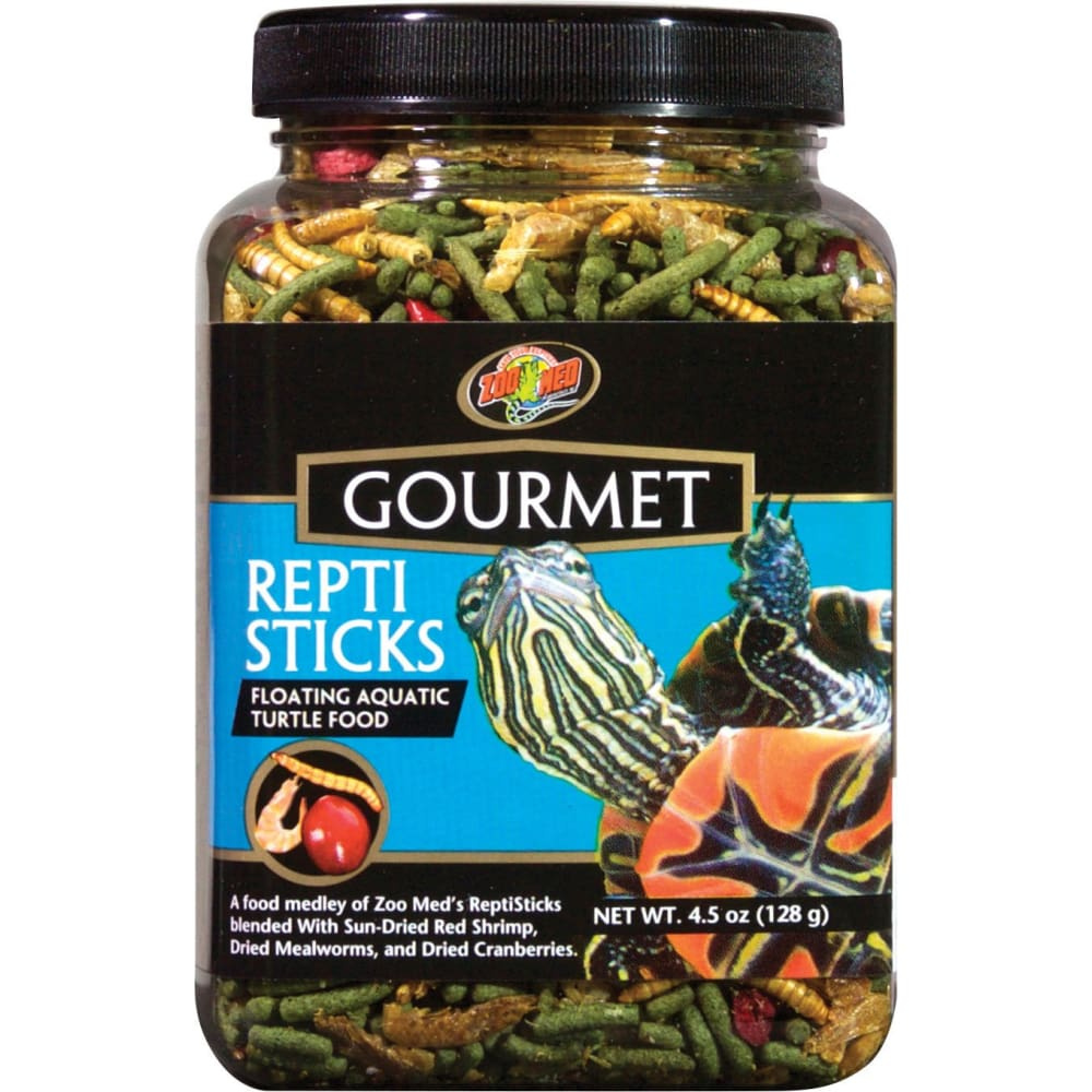 Zoo Med Laboratories Inc - Gourmet Reptisticks Floating Aquatic Turtle Food - 4.5 OUNCE - Pet