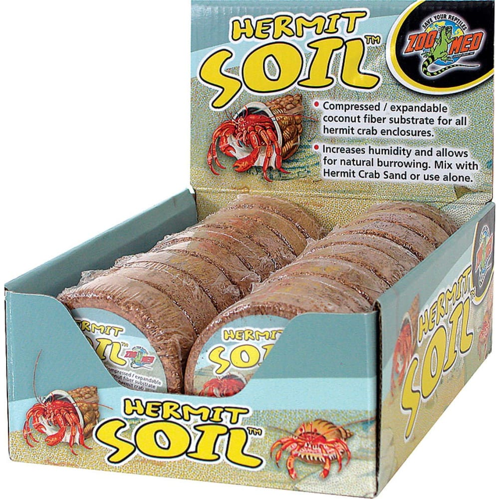 Zoo Med Laboratories Inc - Hermit Crab Soil Display - NATURAL / 16 PIECE - Pet