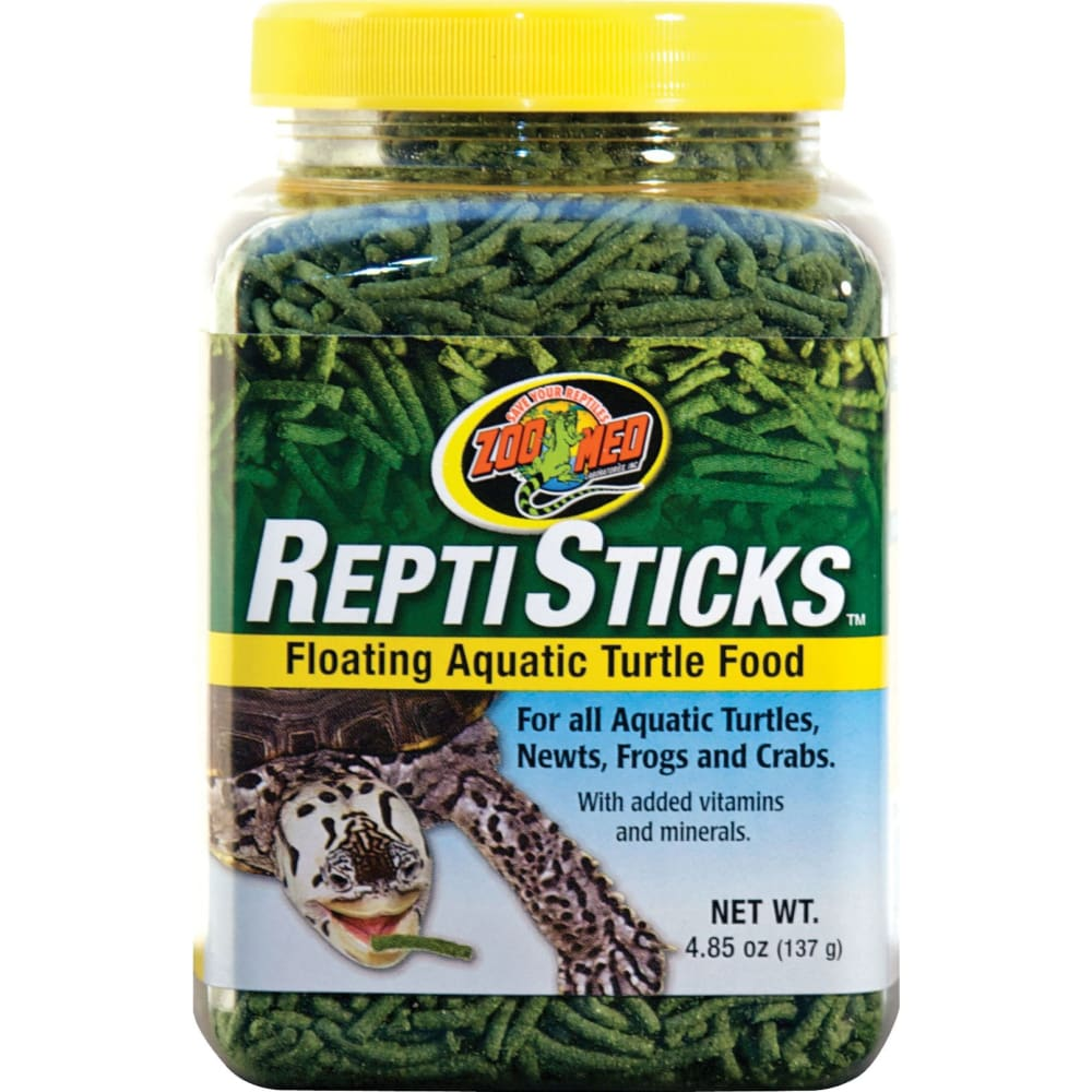 Zoo Med Laboratories Inc - Reptisticks Floating Aquatic Turtle Food - 4.85 OUNCE - Pet