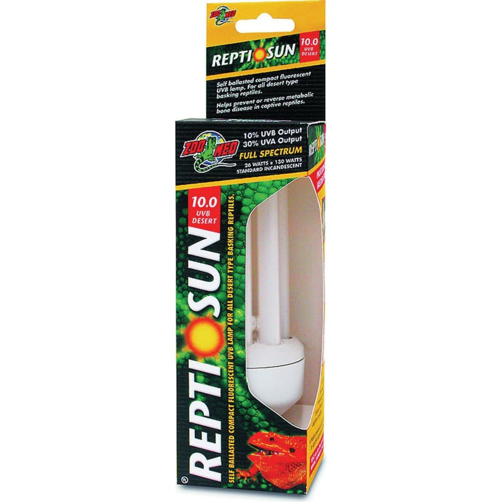 Zoo Med Laboratories Inc - Reptisun 10.0 Uvb Mini Compact Fluorescent - 26 WATT - Pet