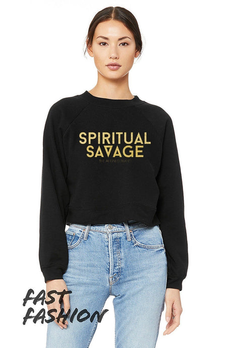 Spiritual Savage Cropped Fleece