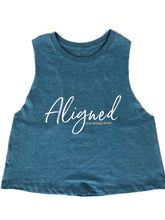 Load image into Gallery viewer, Aligned Racerback Crop Tank - The Aligned Brand