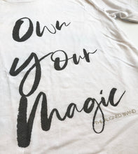 Load image into Gallery viewer, Own Your Magic Unisex Sueded Tee - The Aligned Brand