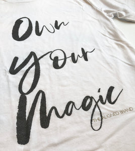 Own Your Magic Unisex Sueded Tee - The Aligned Brand
