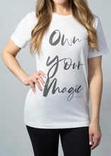 Load image into Gallery viewer, Own Your Magic Unisex Sueded Tee