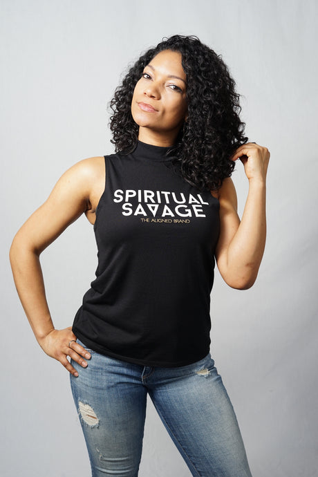 Spiritual Savage High Neck Tank