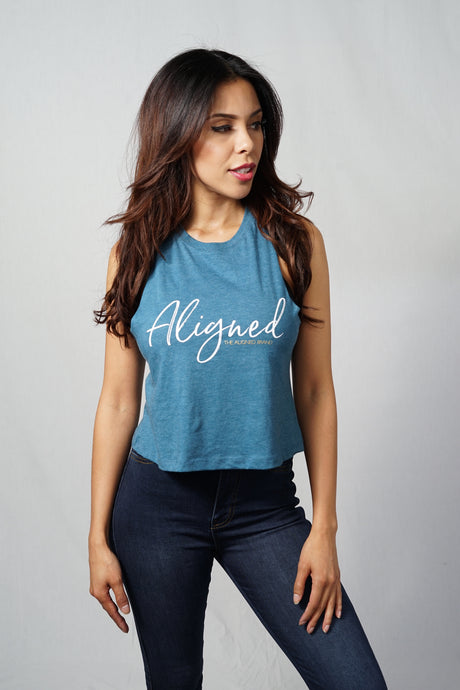 Aligned Racerback Crop Tank - The Aligned Brand