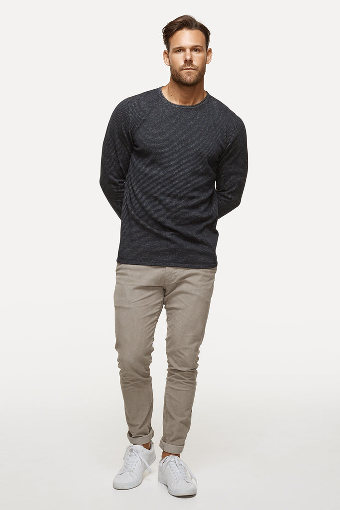The Drake Stripe Knit - Navy