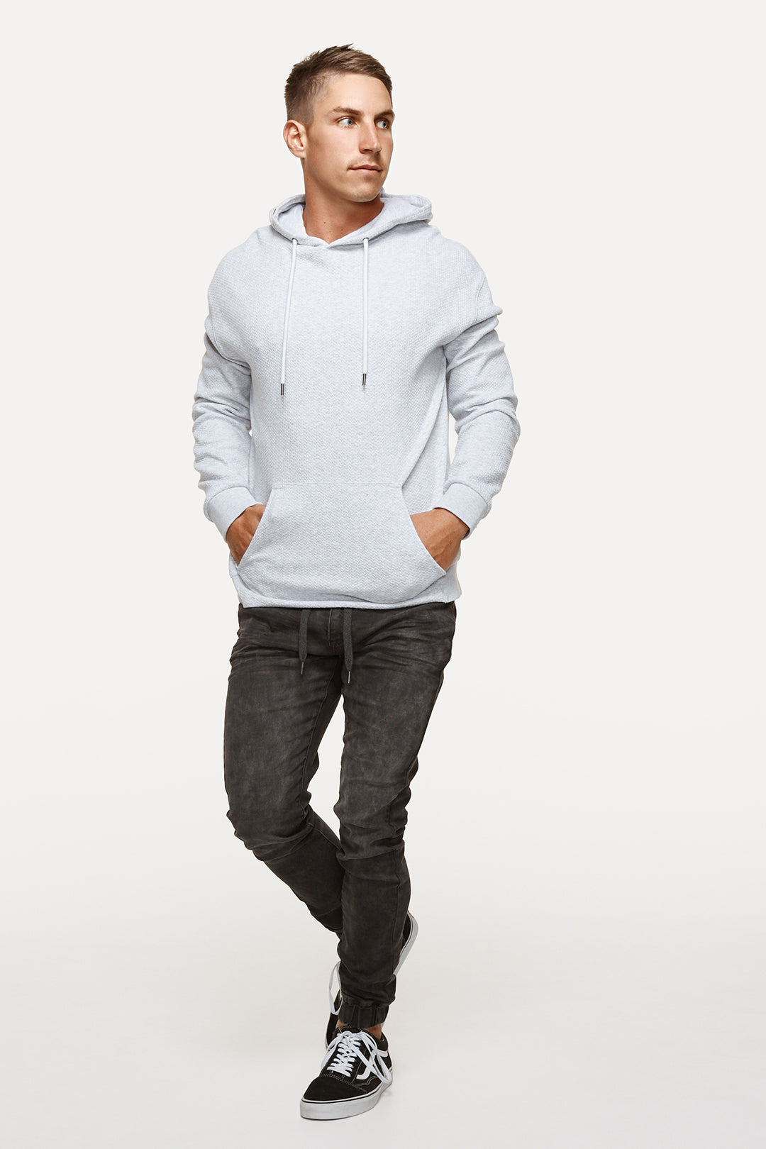 The Patterson Hoodie - Ice/Grey