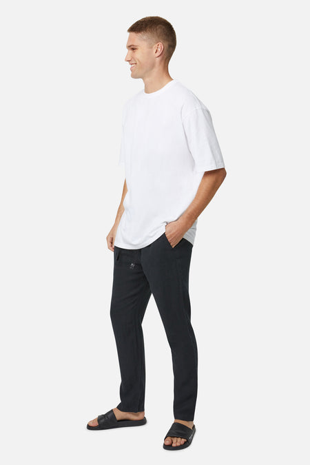 The Santorini Linen Pant - Od Black