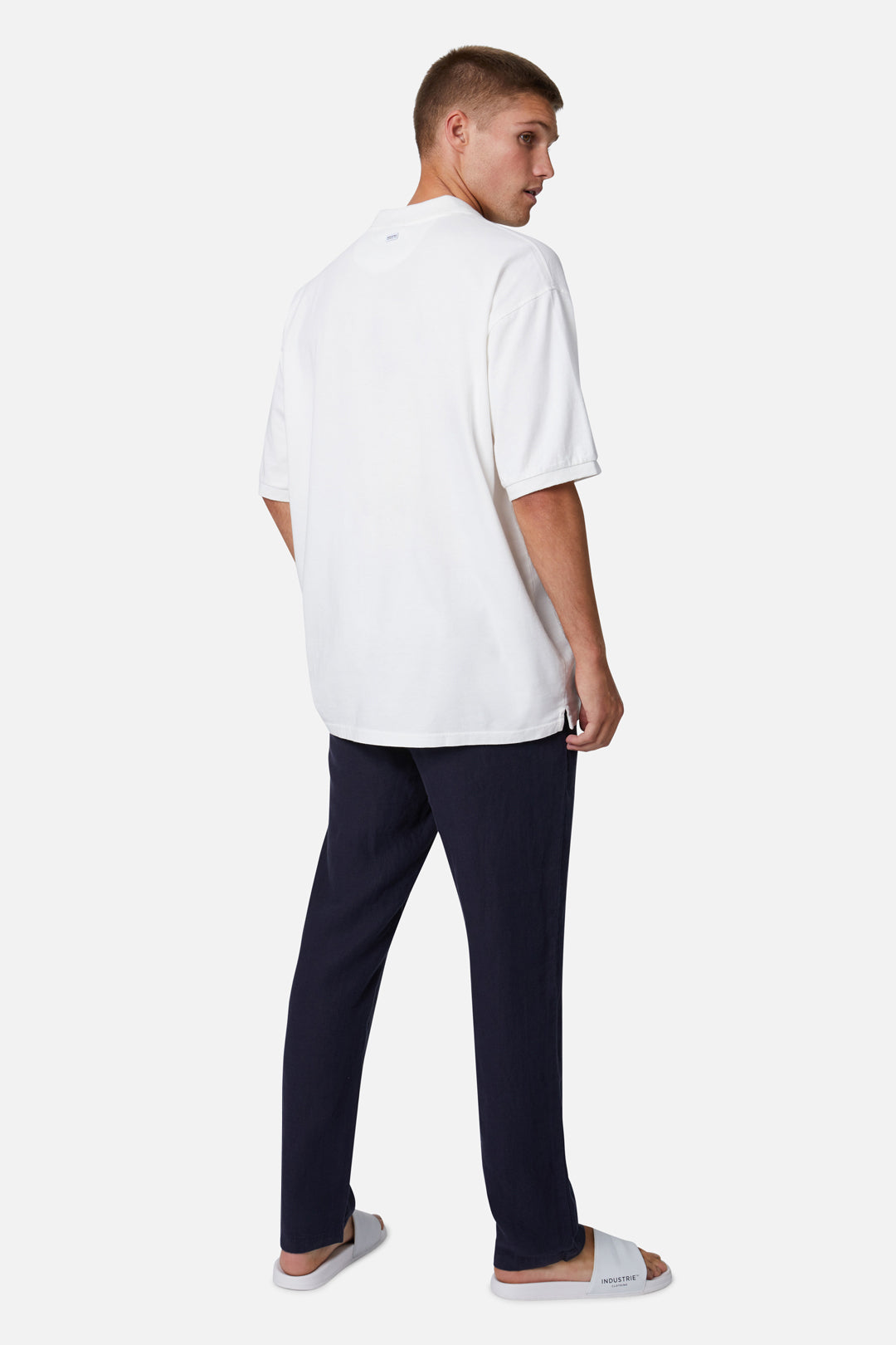 The Santorini Linen Pant - Navy