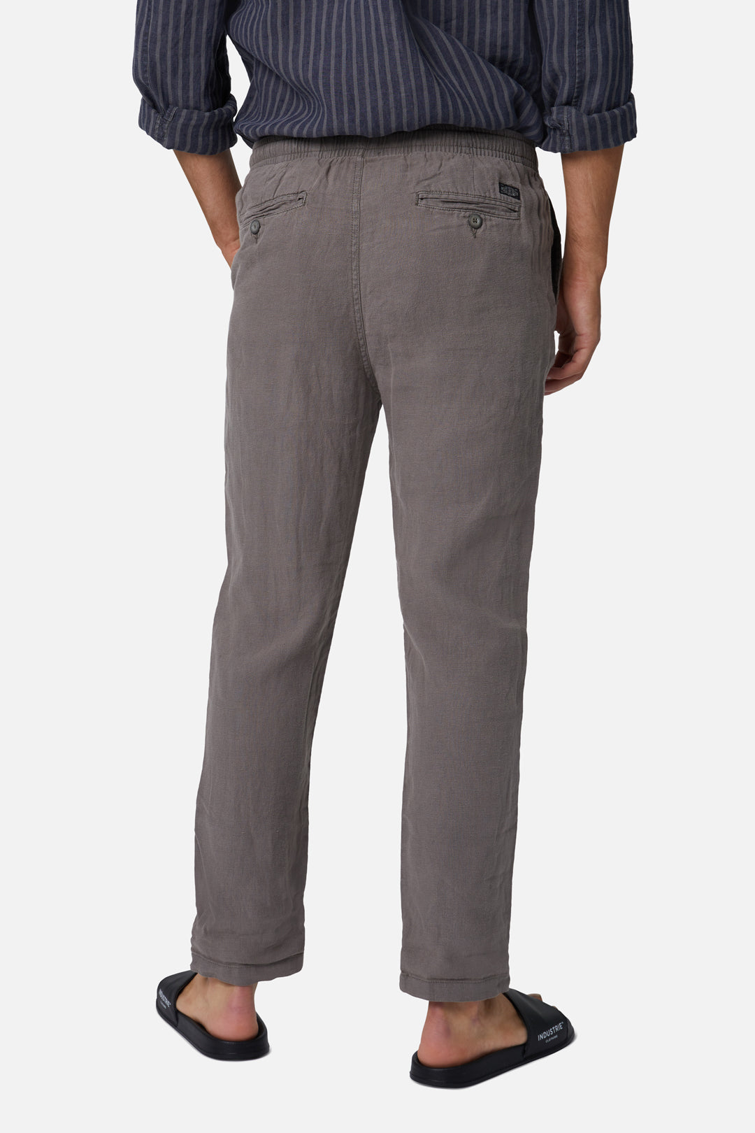 The Santorini Linen Pant - Od Dark Forest