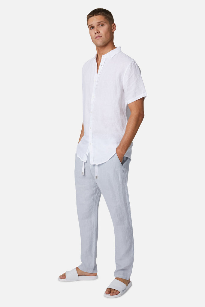 The Santorini Linen Pant - Posh Grey