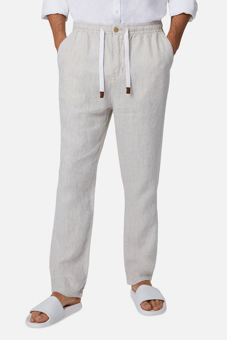 The Santorini Linen Pant - Wheat